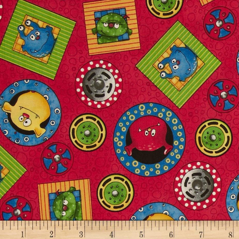 Monster truck mania discount designer fabric for Monster truck fabric