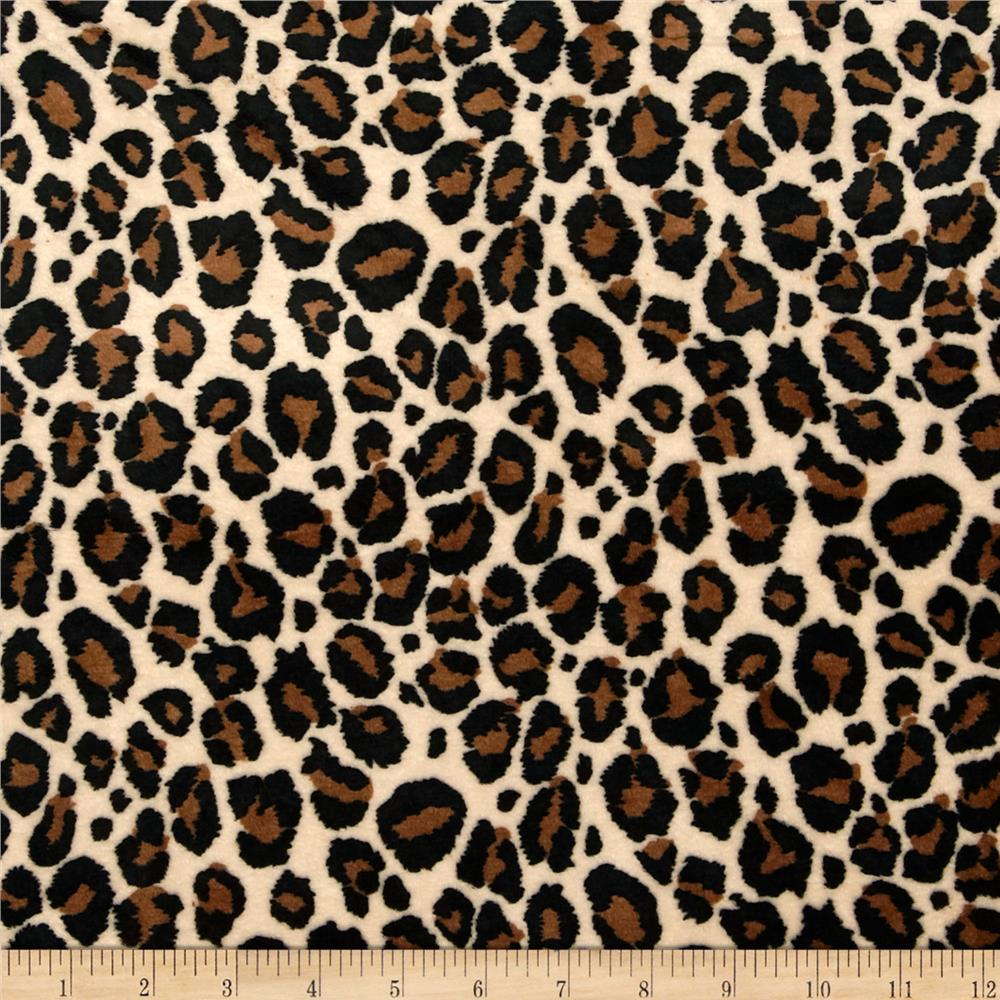 Minky Jaguar Cuddle Tan/Brown