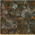 Bali Batik Sunflowers Walnut Grey