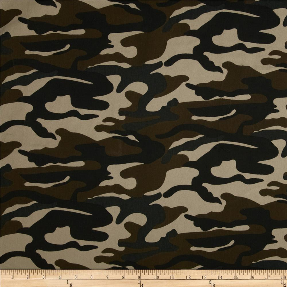 Textile Creations Camouflage Twill Brown/Black/Tan