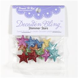 Dress It Up Embellishment Buttons Shimmer Stars