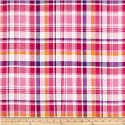 Morgan Plaid Flannel Fuchsia