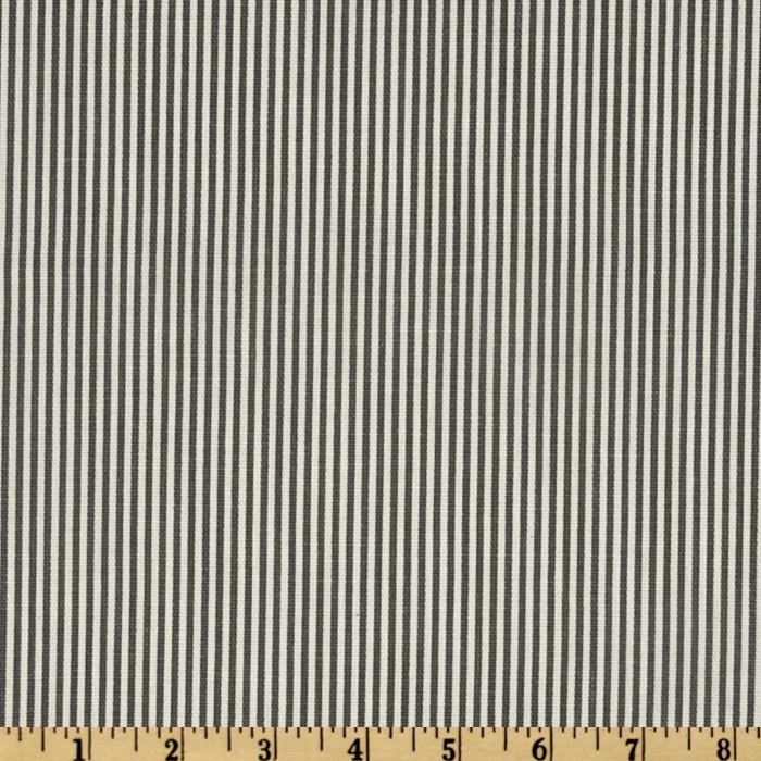 Magnolia Home Fashions Oxford Stripe Charcoal