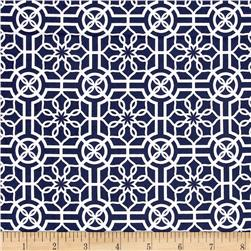 Bahama Breeze Trendy Trellis Navy/White