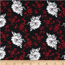 French Laundry Floral Trellis Black/Red