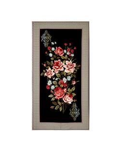 "Bella Framed Flowers 23.5"" Panel Black/Multi"