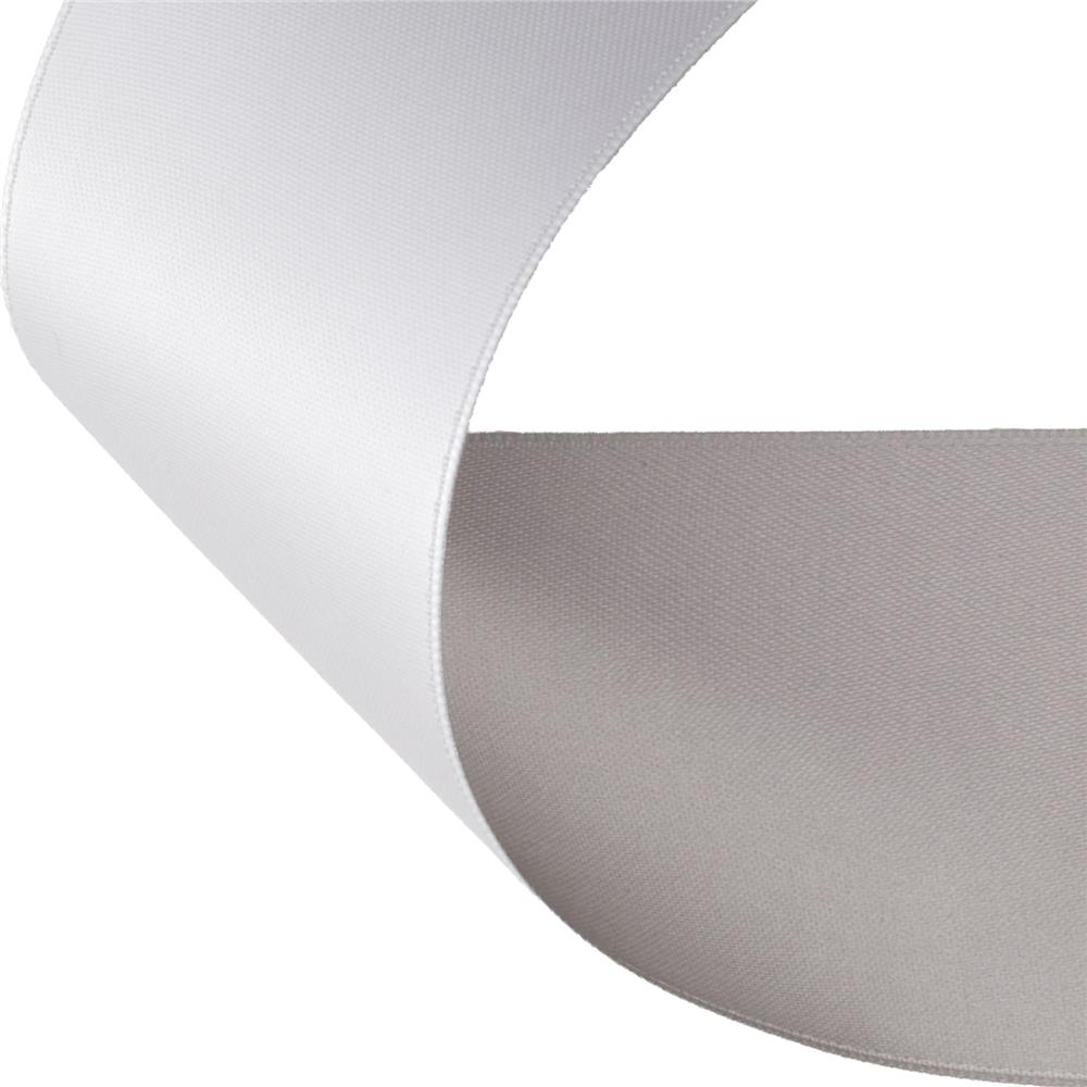 2'' Satin Reversible Ribbon Silver/White
