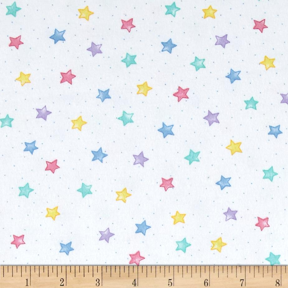 Comfy  Flannel Stars Pastel Fabric