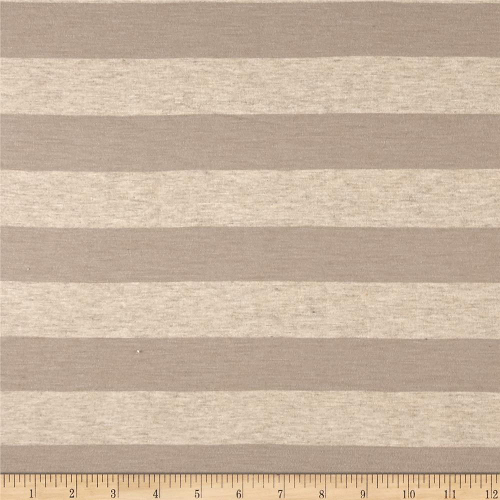 Jersey Knit Stripe Hazle Wood/Beige