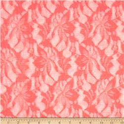 Novelty Stretch Lace Hot Coral