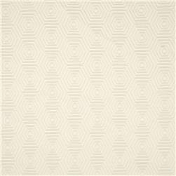 HGTV HOME Hex Appeal Solid Jacquard Ivory