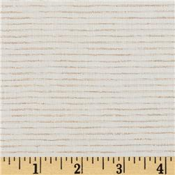 Andover Chambray Mylar White Gold Fabric