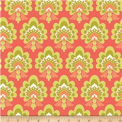 Riley Blake Lula Magnolia Floral Orange