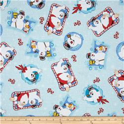 Frosty the Snowman Tossed Characters Blue