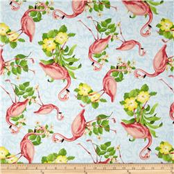 Seaside Wonders Flamingos Blue