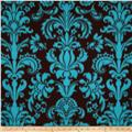 WinterFleece Damask Blue