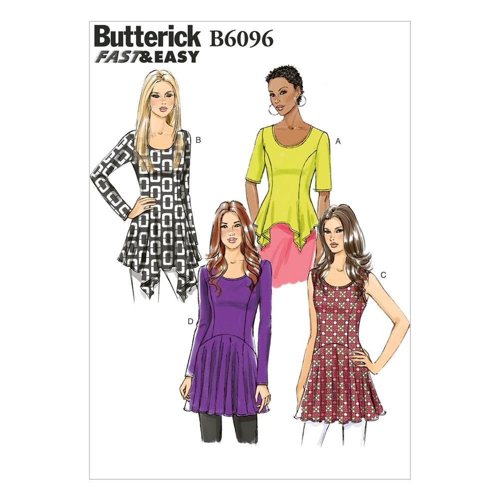 Butterick Misses' Top Pattern B6096 Size A50