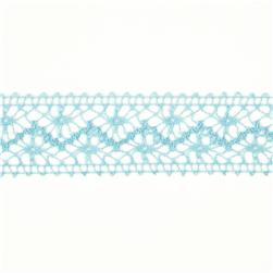 1 1/2'' Crochet Lace Ribbon Light Blue