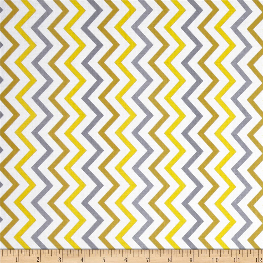 Michael Miller Mini Chic Chevron Citron