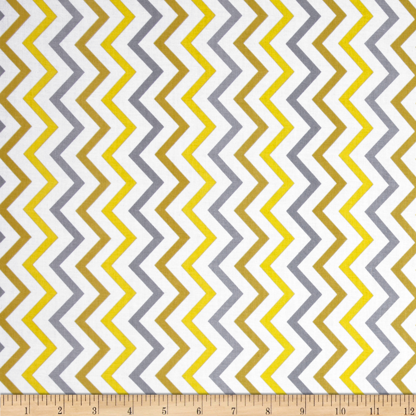 Michael Miller Mini Chic Chevron Citron Fabric