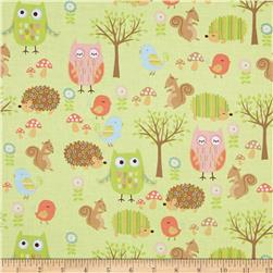 Riley Blake Owl & Co. Owl Friend Green