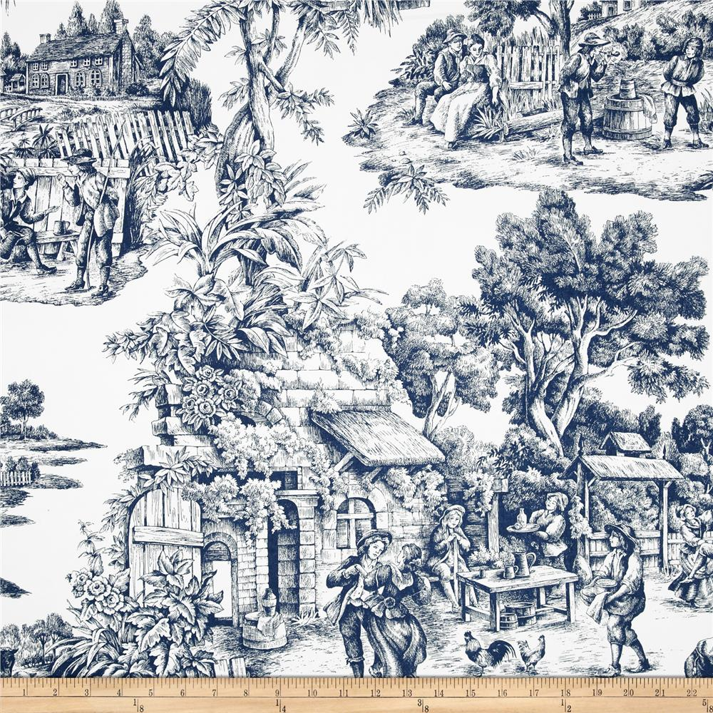 Duralee Home Ernest Toile Sateen Blue