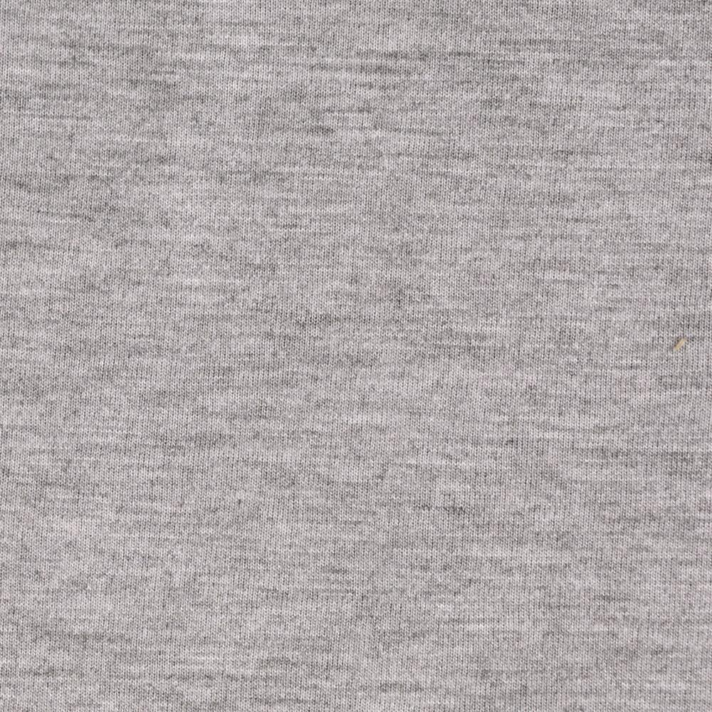 Cotton Poly Blend Jersey Knit Heather Cool Grey