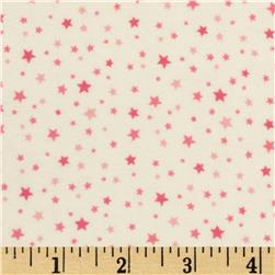 Riley Blake Round Up Flannel Star Pink Fabric