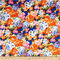 Floral ITY Knit Royal/Orange/Pink