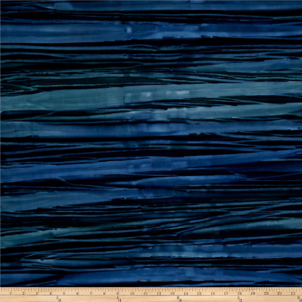 Kaufman Artisan Batiks Patina Handpaints Bold Stripes Nightfall