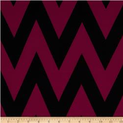 Fashionista Jersey Knit Medium Chevron Magenta/Black