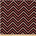 Holly Jolly Christmas Candy Cane Chevron Black