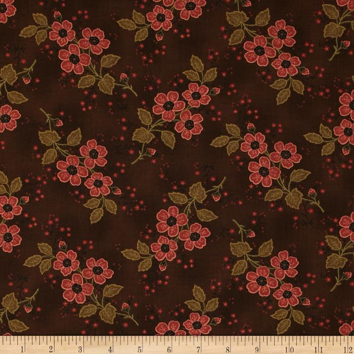 Moda Alice's Scrapbag Mama's Apron Chocolate Brown