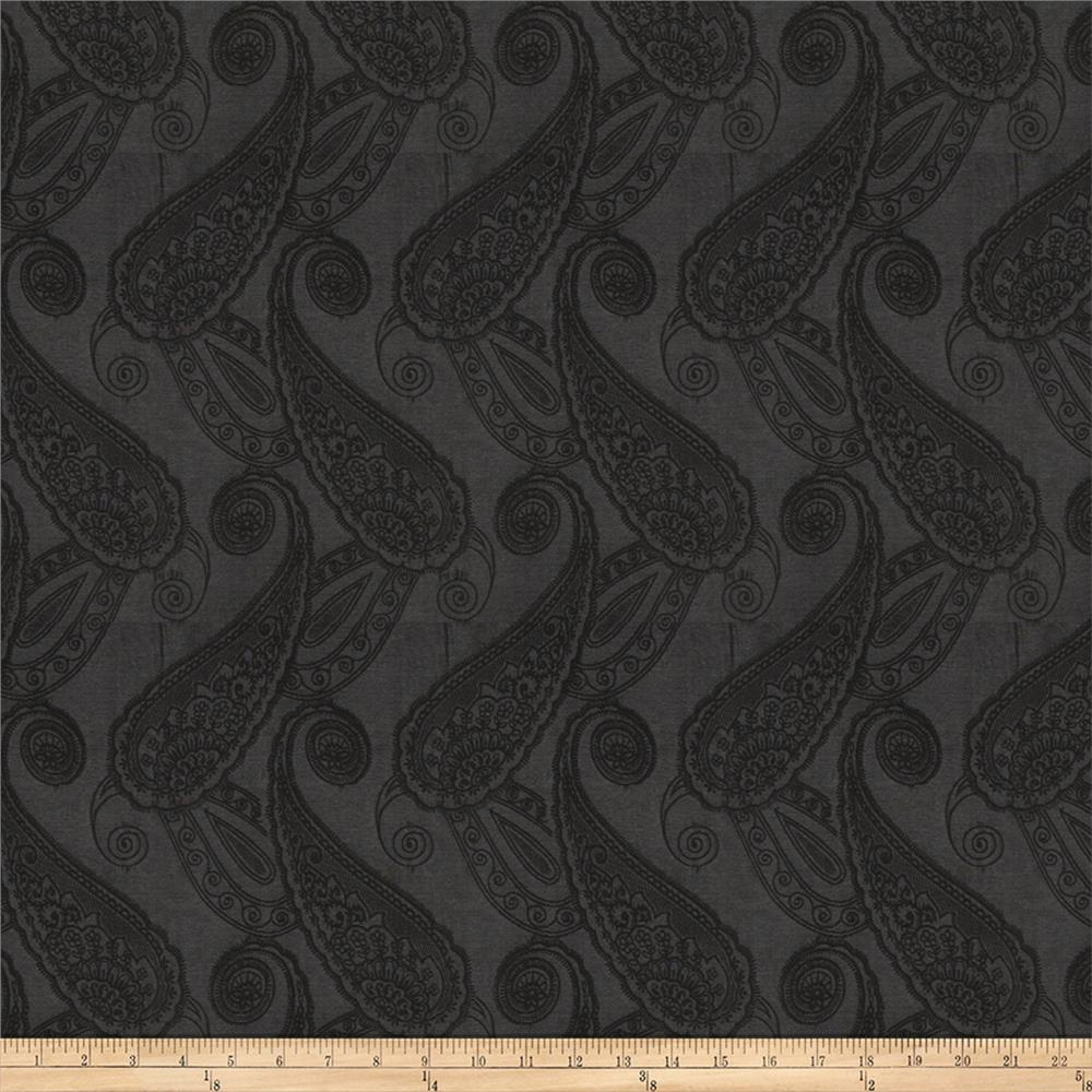 Fabricut altamura faux silk black smoke discount for Black fabric