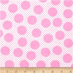 Michael Miller Cute Zoo Adorable Dots Pink Fabric