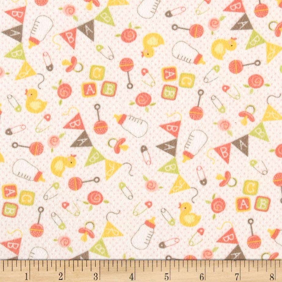 Moda sweet baby flannel nursery toss blossom cloud for Cheap baby fabric