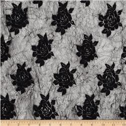 Crushed Lace Flowers Black
