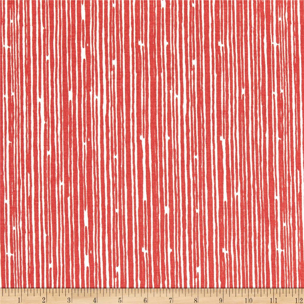 Premier Prints Scribble Stripe Coral