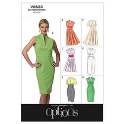 Vogue Misses' Dress Pattern V8633 Size AA0