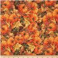 Maple Lane Metallic Packed Pumpkins Brown