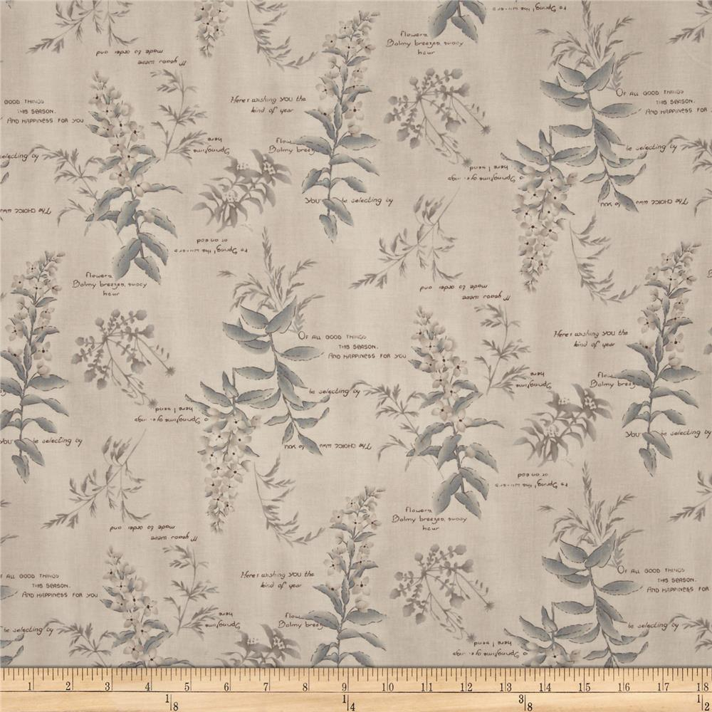 Mrs March's Collection Medium Floral & Spring Words Tan