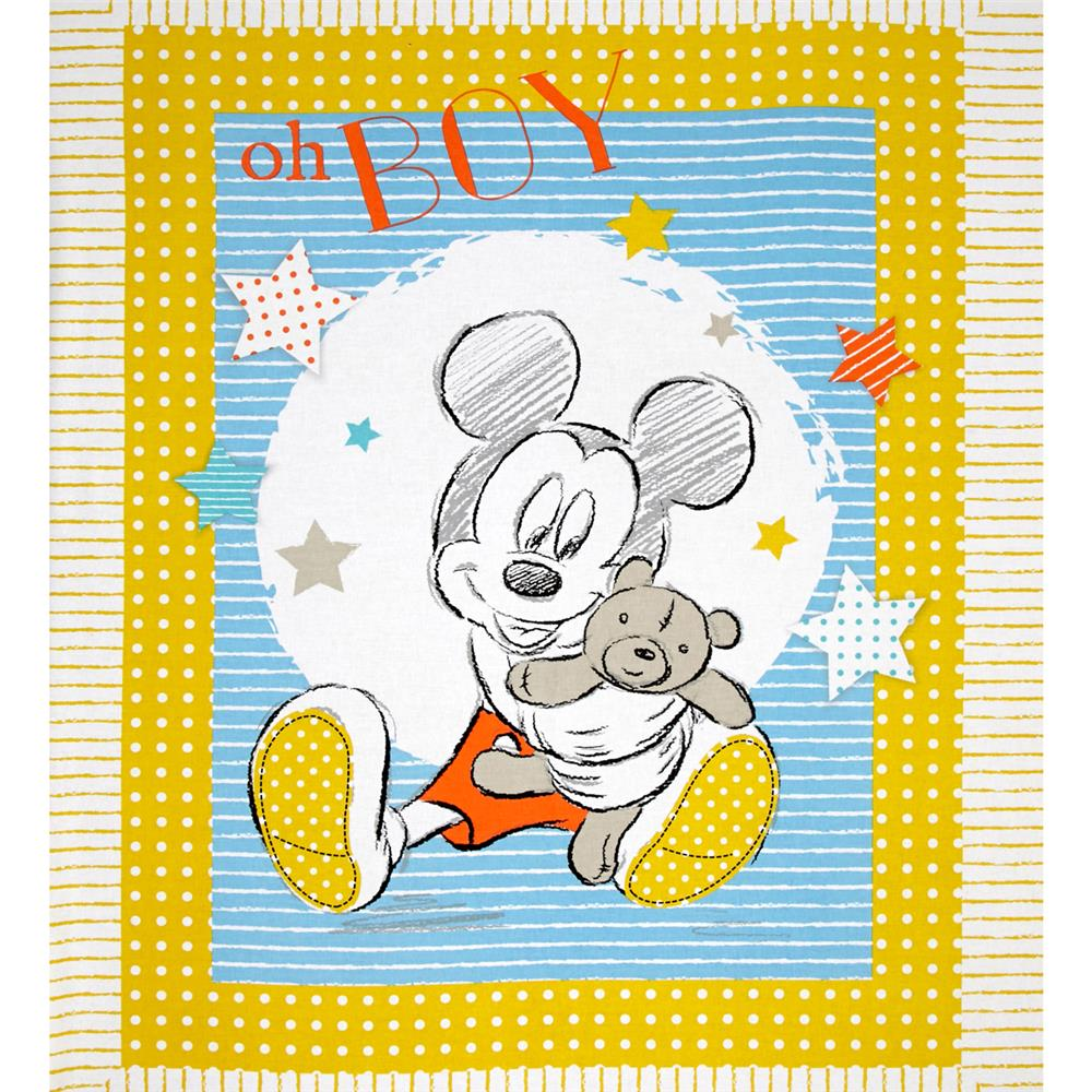 Disney Mickey Nursery Oh Boy! 36'' Panel Multi Fabric