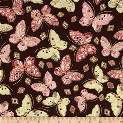 Kanvas Sakura Metallic Butterfly Jewel Brown