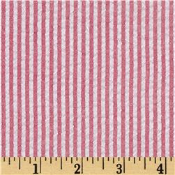 Yarn-Dyed Seersucker Stripe Red