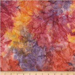 Indonesian Batik Swirl Orange/Purple