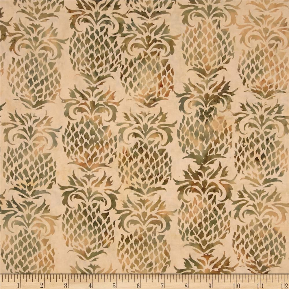 Island Batik Down in the Boondocks Gold Pineapple