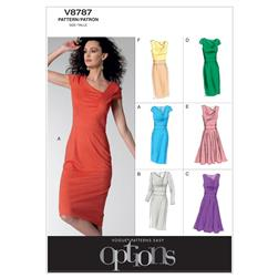 Vogue Misses' Dress Pattern V8787 Size A50