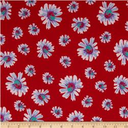 Soft Jersey Knit Floral Red