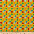 Flannel Novelties Dots Yellow