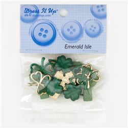 Dress It Up Embellishment Buttons  Mm Emerald Isle